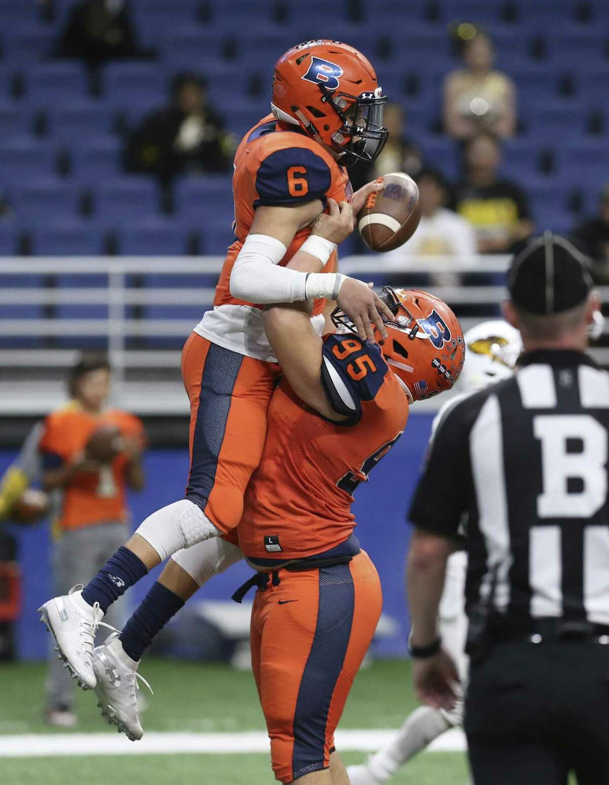 Saturday, Dec. 8 Class 6A Division II Brandeis Broncos (11-2) vs. Austin Westlake (12-1)6 p.m., Alamodome