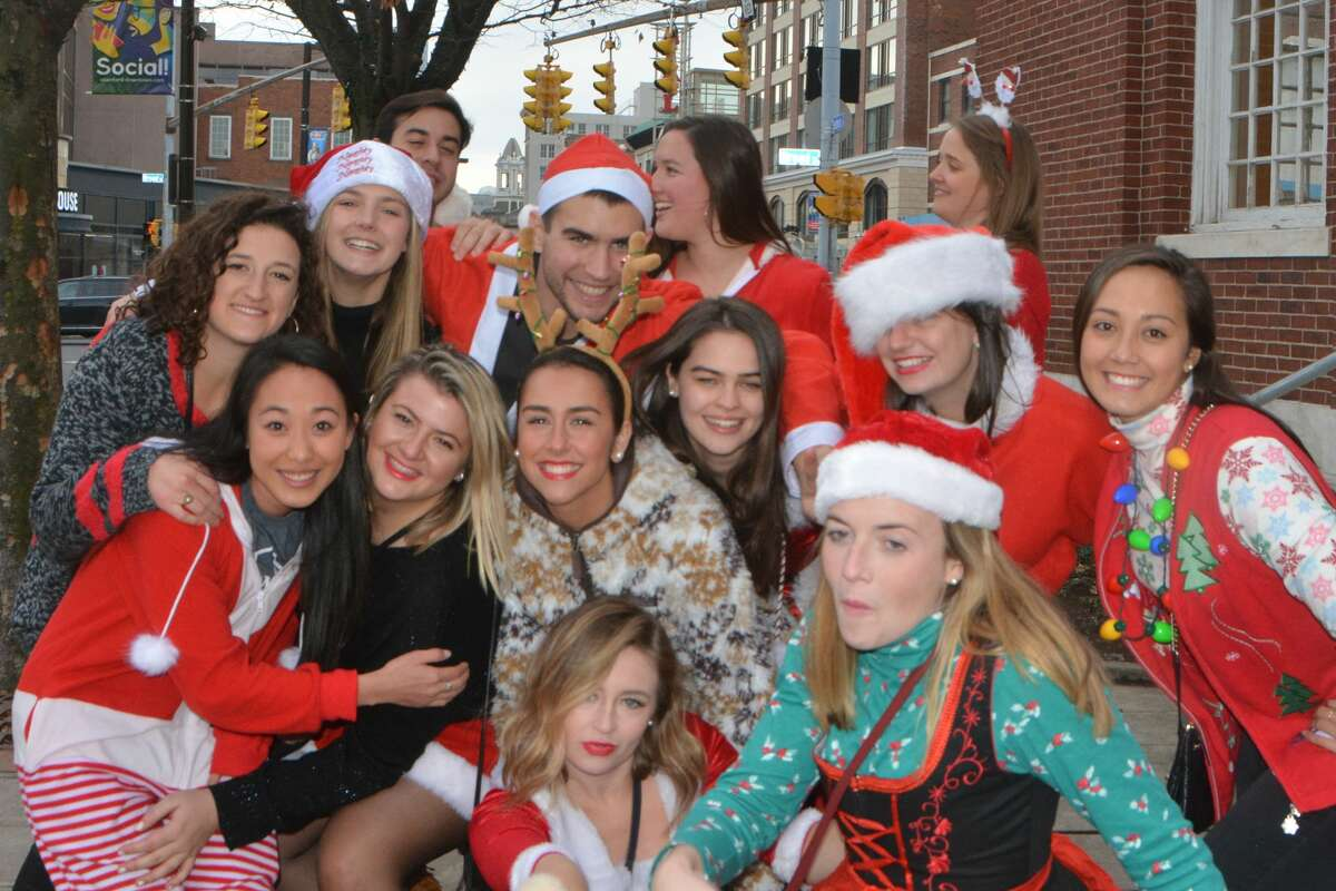 Santas swarmed the streets of Stamford during the annual SantaCon bar crawl on December 1, 2018. Revelers dressed in holiday garb took advantage of drink specials at participating bars. Were you SEEN?