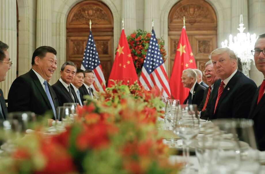 President Donald Trump meets with China's President Xi Jinping during their bilateral meeting at the G20 Summit, Saturday, Dec. 1, 2018 in Buenos Aires, Argentina. (AP Photo/Pablo Martinez Monsivais) Photo: Pablo Martinez Monsivais / Copyright 2018 The Associated Press. All rights reserved