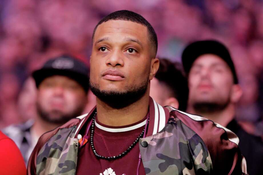 Baseball player Robinson Cano waits for a middleweight mixed martial arts bout between Derek Brunson and Israel Adesanya at UFC 230, Saturday, Nov. 3, 2018, at Madison Square Garden in New York. (AP Photo/Julio Cortez) Photo: Julio Cortez / Copyright 2018 The Associated Press. All rights reserved.