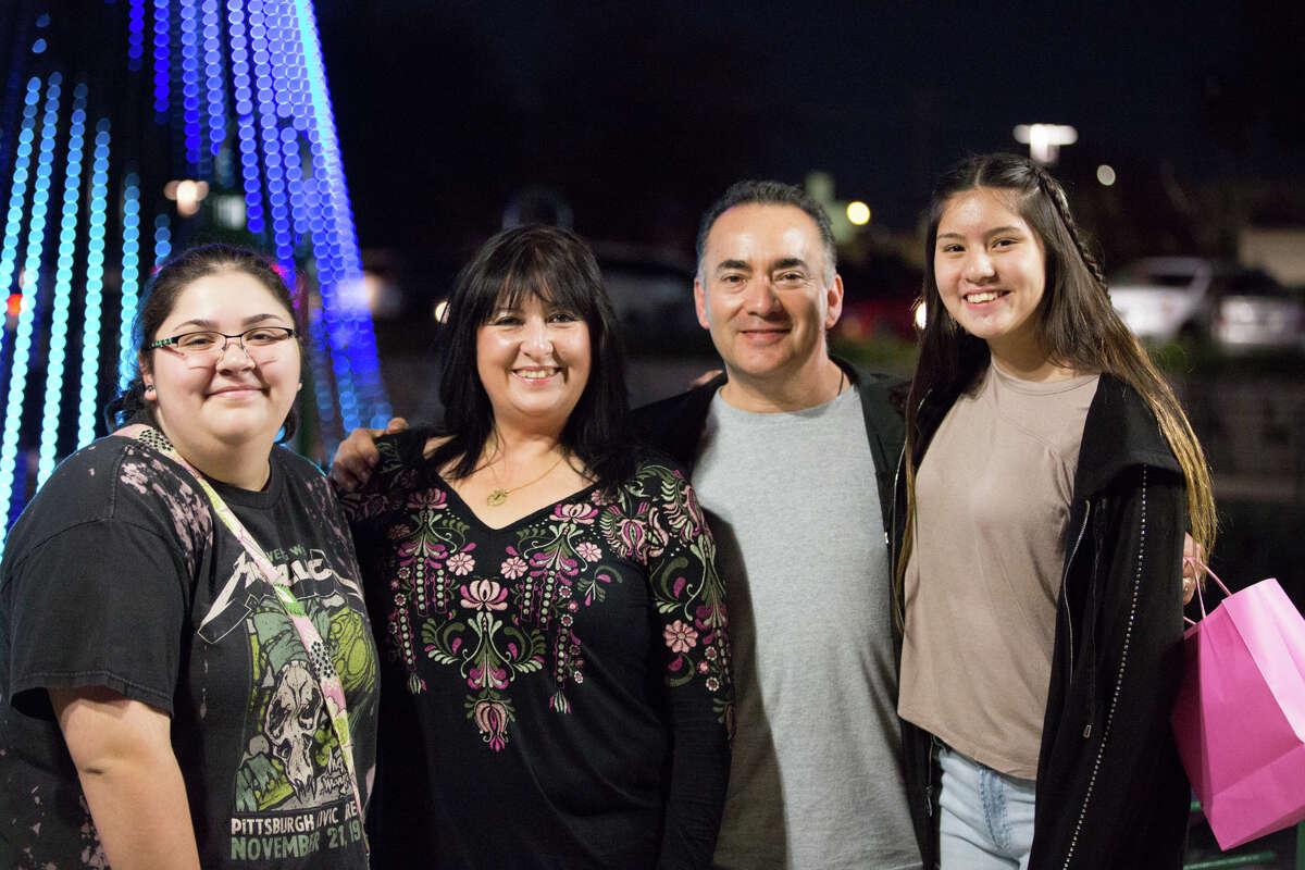 Santa Claus, Sponge Bob and San Antonians helped kick off River of Lights on the Museum Reach Saturday Dec. 1, 2018.