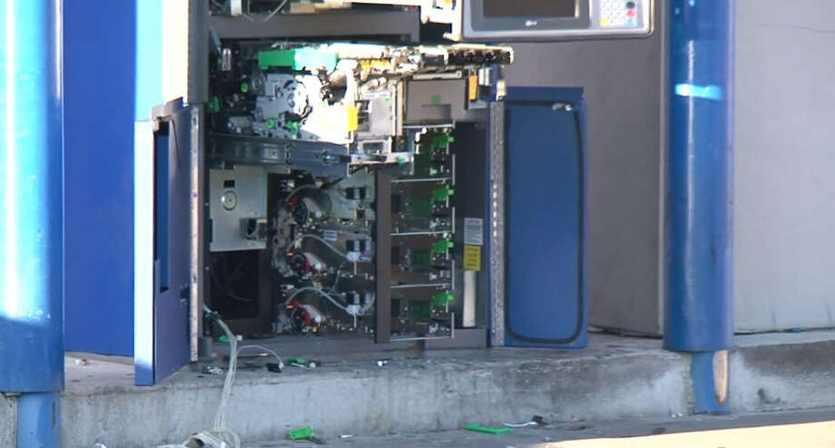 Thieves hit up three ATMs in a series of smash-and-grabs in the early hours of Sunday. Photo: Metro Video