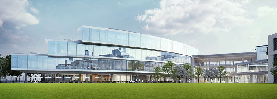 Renderings show Expedia's new campus plans in Interbay. The company plans to open their new headquarters there in fall of 2019. Photo: Expedia