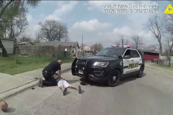 San Antonio police wrestled a teenager to the ground  An