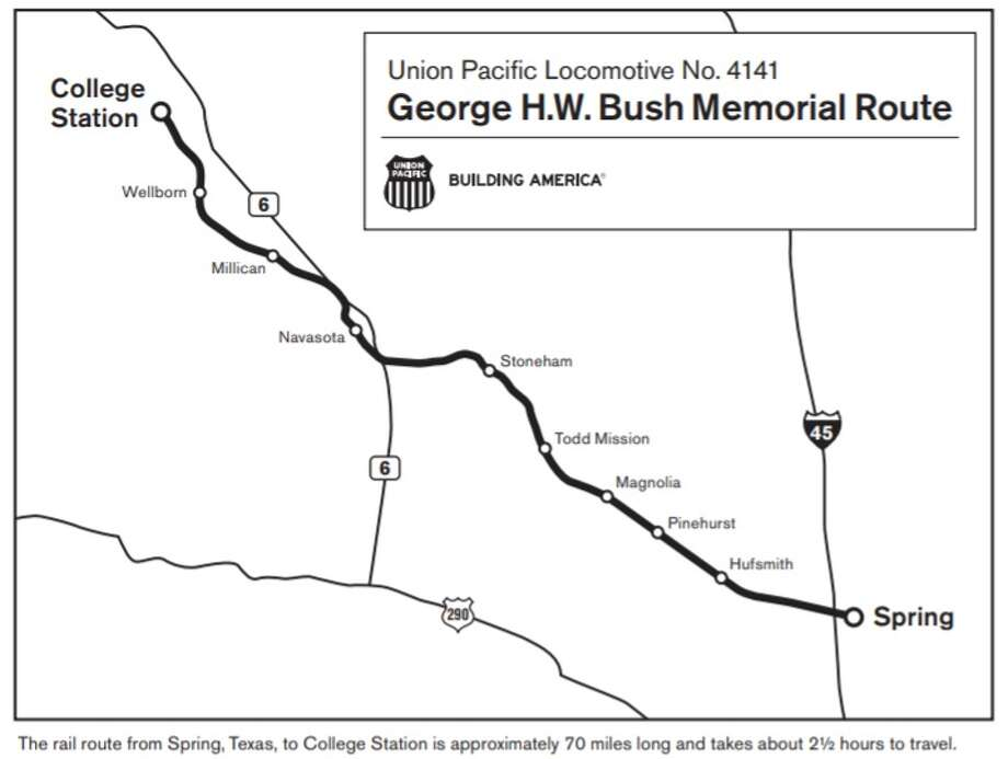 College Station Map Of Texas.Bush Funeral Train Where To Watch Houston Chronicle