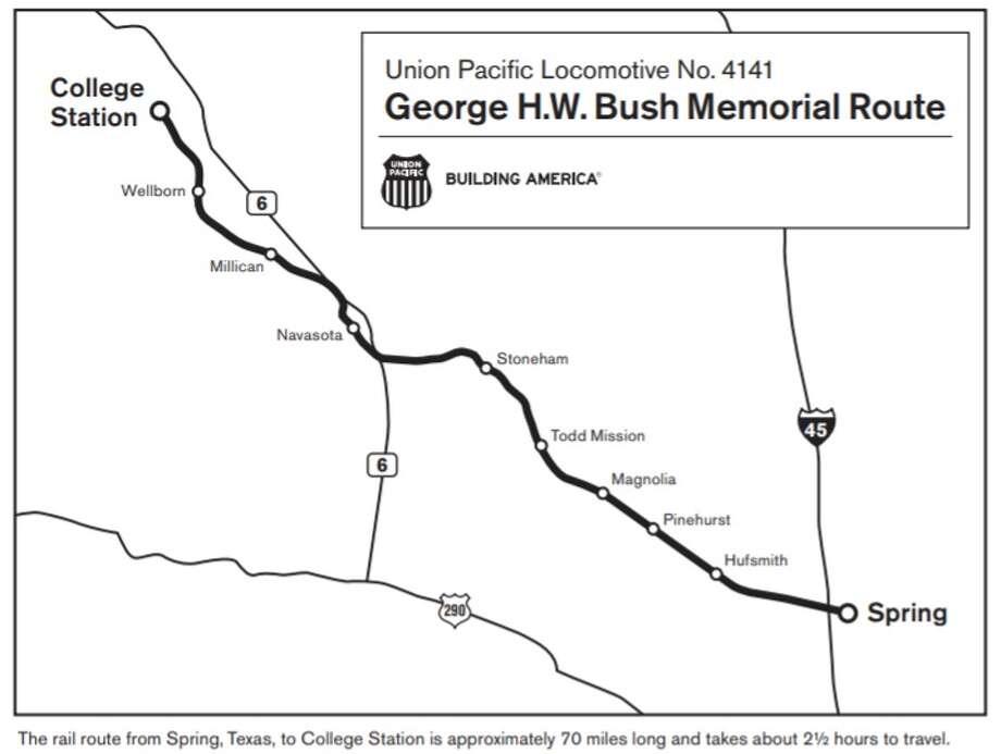 Bush funeral train: Where to watch - Houston Chronicle