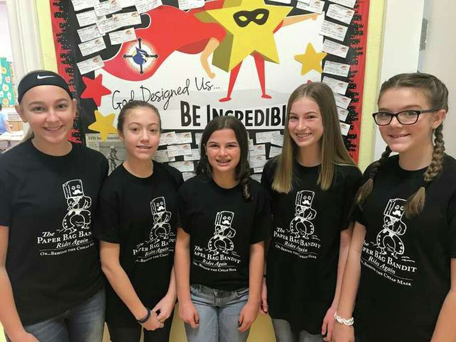 St. Boniface Catholic School students, from left to right, Maggie Pifer (orchestra), Callie Barks (chorus), Grace Deakos (chorus), Maya Lueking (orchestra), and Claire Hamann (chorus) were recently named All-District Junior Chorus and All-District Junior Orchestra.