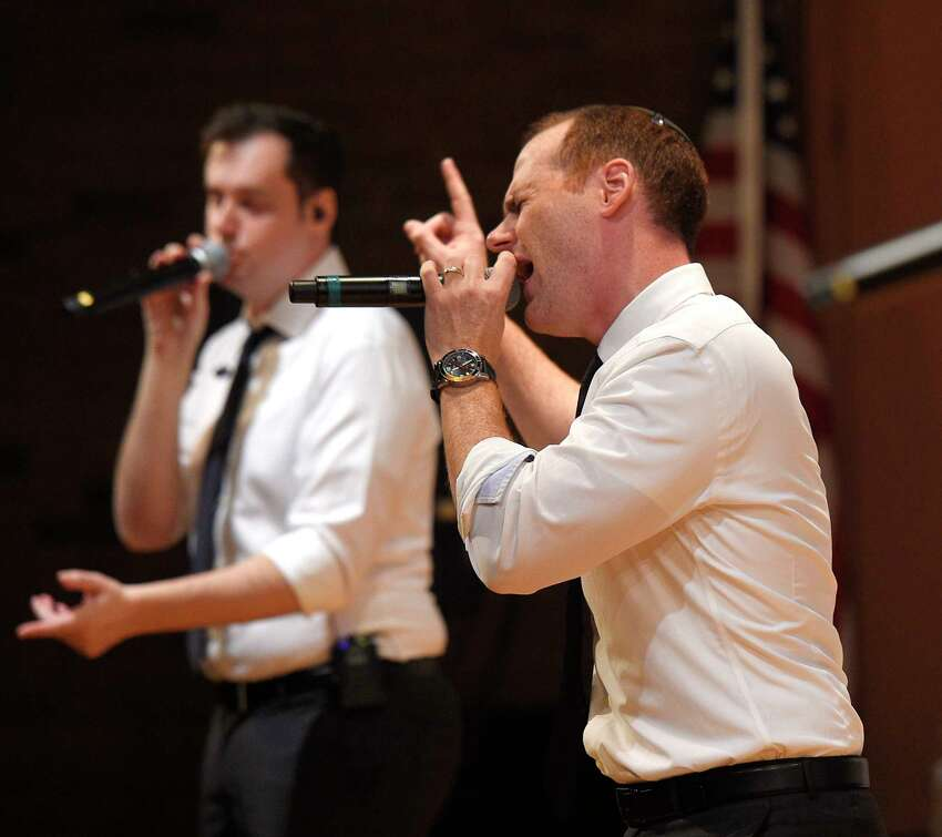 Photos from the Maccabeats Chanukah Concert at Greenwich Library's Cole Auditorium in Greenwich, Conn. Sunday, Dec. 2, 2018. Presented by Chabad Greenwich, the Jewish a capella group entertained a packed house with a variety of modern pop songs, remixes and Chanukah-themed songs.