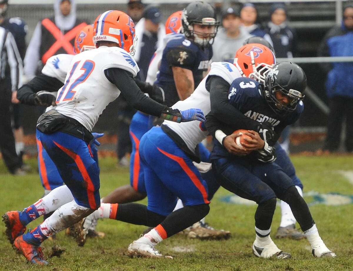 Ansonia's 26-19 loss to Bloomfield in the state football playoffs at Jarvis Stadium in Ansonia, Conn. on Sunday, December 2, 2018.