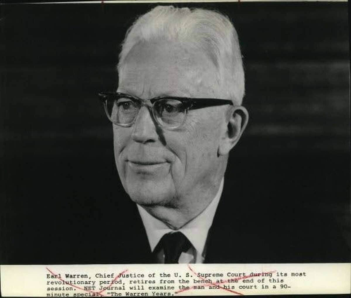 """Earl Warren, Chief Justice of the US Supreme Court during its most revolutionary period, retires from the bench at the end of this session. NET Journal will examine the man and his court in a 90-minute special, """"The Warren Years."""""""