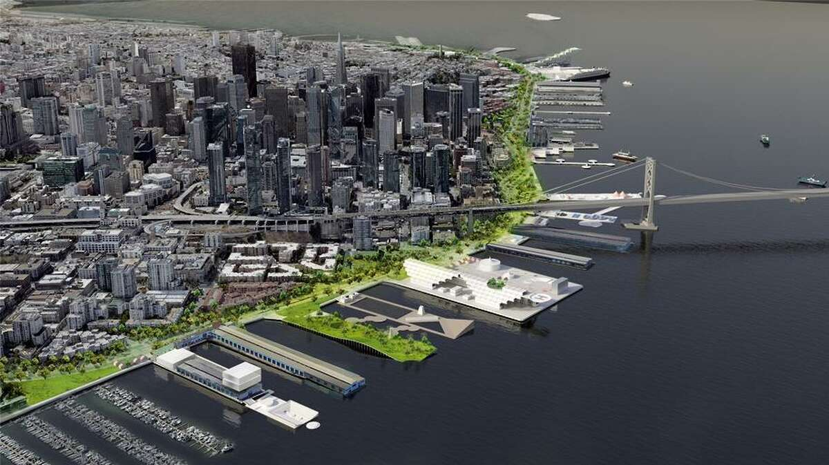 Australian design firm Hassell proposes a holistic approach to upgrading and redeveloping piers along the Embarcadero.