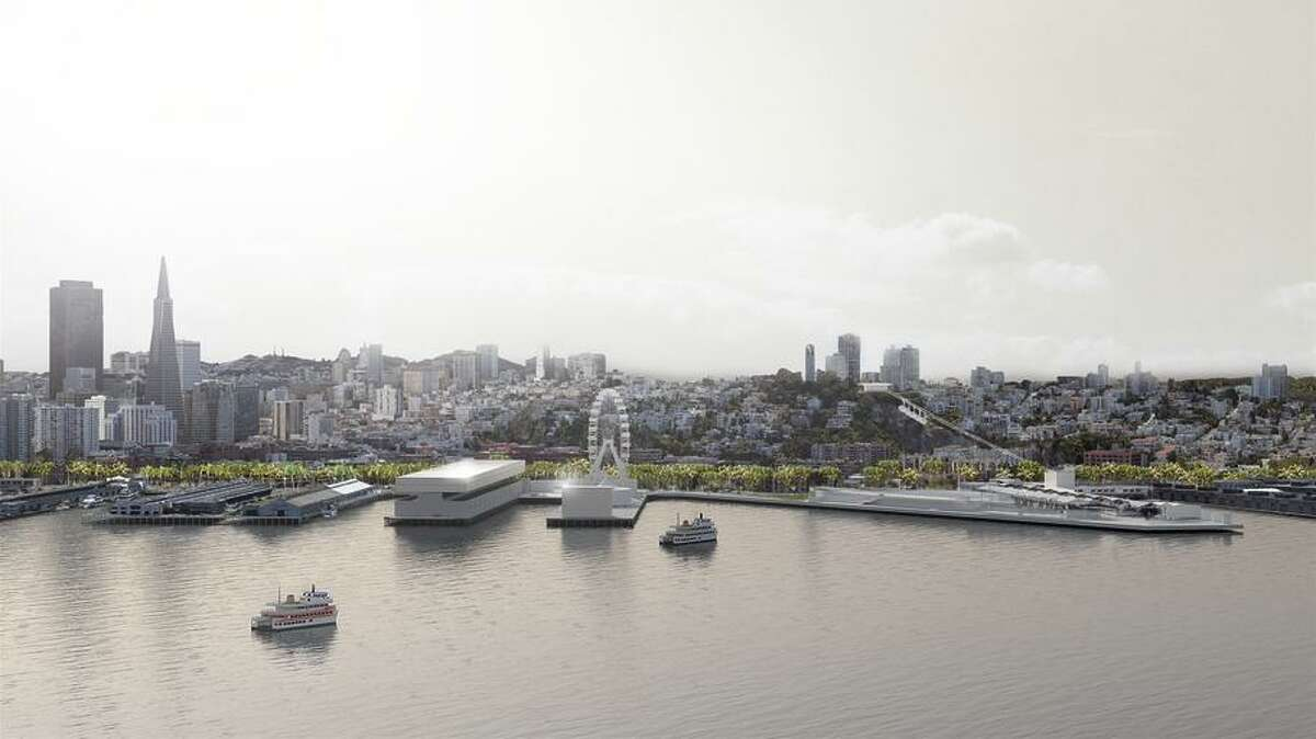 Hassell, an Australian design firm, proposes a holistic view to upgrade the Embarcadero piers in its photo illustrations.