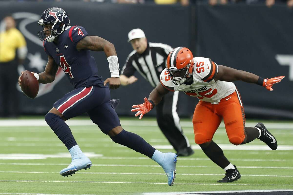 Deshaun Watson, who was picked by the Texans after a draft-day trade with the Browns, will try to improve to 3-0 against Cleveland in his career.