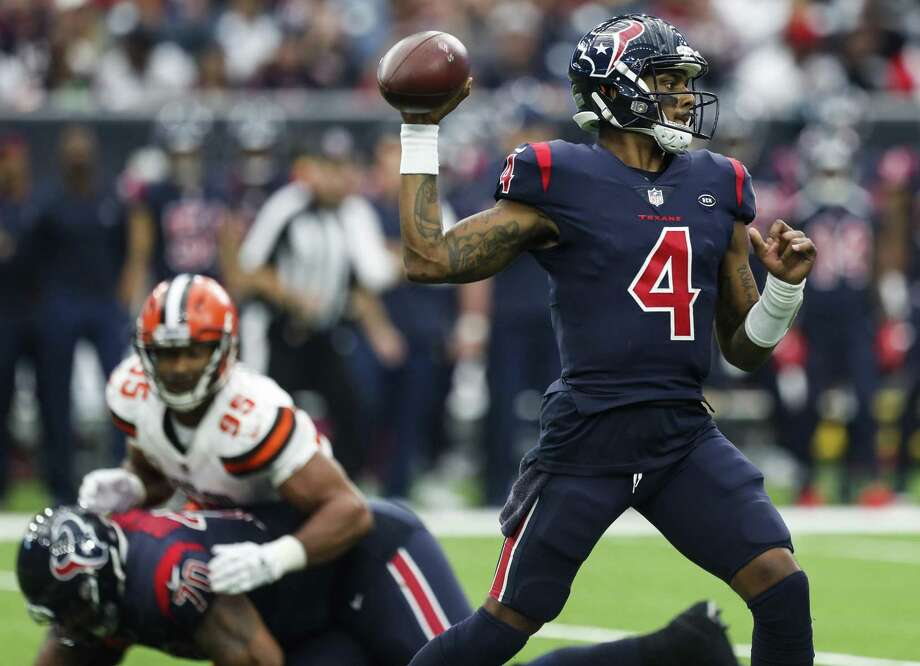 PHOTOS: Texans vs. Browns Houston Texans quarterback Deshaun Watson (4) throws a pass against the Cleveland Browns during the fourth quarter of an NFL football game at NRG Stadium on Sunday, Dec. 2, 2018, in Houston. >>>See more game action from the Texans' ninth straight win ... Photo: Brett Coomer, Houston Chronicle / Staff Photographer / © 2018 Houston Chronicle