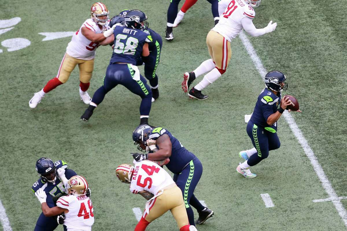 What's the breakdown that leads to all the holding penalties on the offensive line? Carroll: