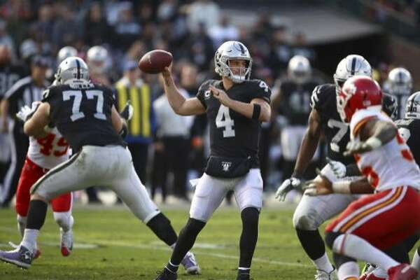 77f18a5b910 Raiders QB Derek Carr compiling weighty career totals - SFChronicle.com