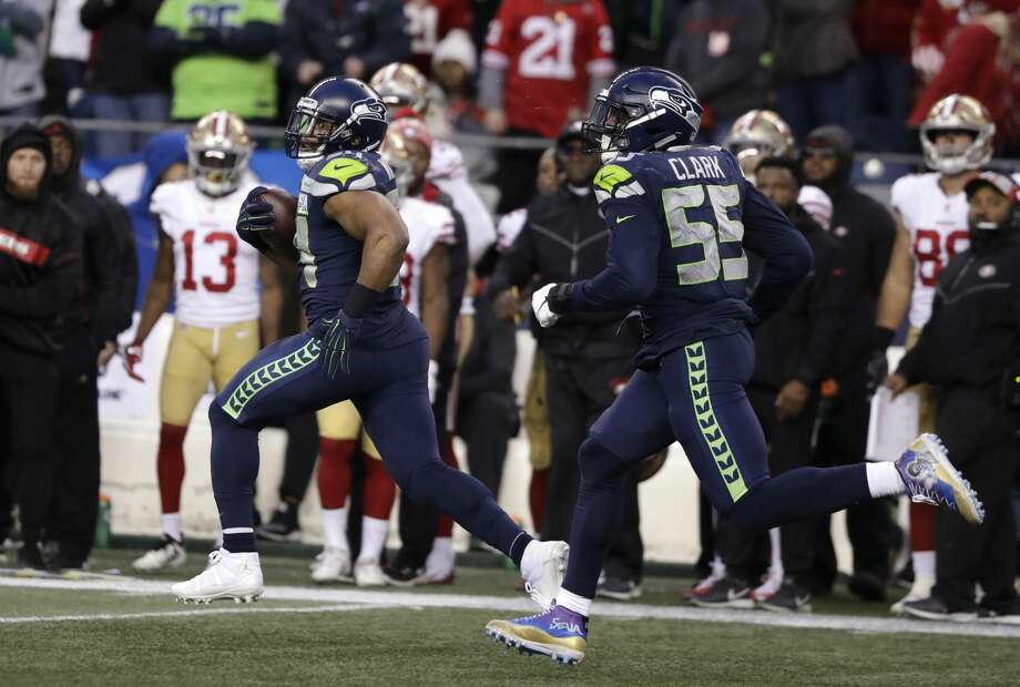 The Seahawks defeated the 49ers on Sunday, 43-16. Click through the following slideshow for key takeaways and observations from the game.  Photo: Elaine Thompson/AP