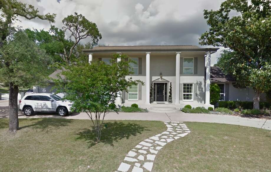 "This is the Austin, Texas home owned by the Heerlein family, where a dummy representing movie character Clark Griswold was dangling from the gutter. A passerby thought it was the real thing and wrestled the ladder up while shouting, ""Can you reach it?"" Photo: Google Earth"