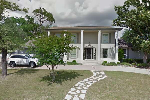 This is the home owned by the Heerlein family where a dummy representing Clark Griswold was dangling from the gutter of their Austin, Texas, home, with a ladder tipping beneath him.