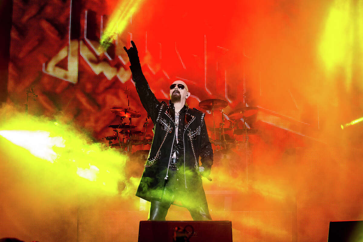 Judas Priest performs at Rock on the Range in Columbus, Ohio, on May 16, 2015. (Trudi Shaffer Hargis/Times Union)