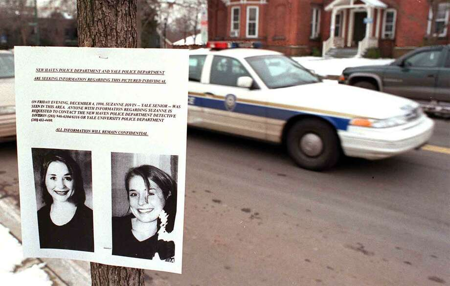 New Haven Police placed fliers in the area of the site where Suzanne Jovin was murdered. Photo: Hearst Connecticut Media File Photo /
