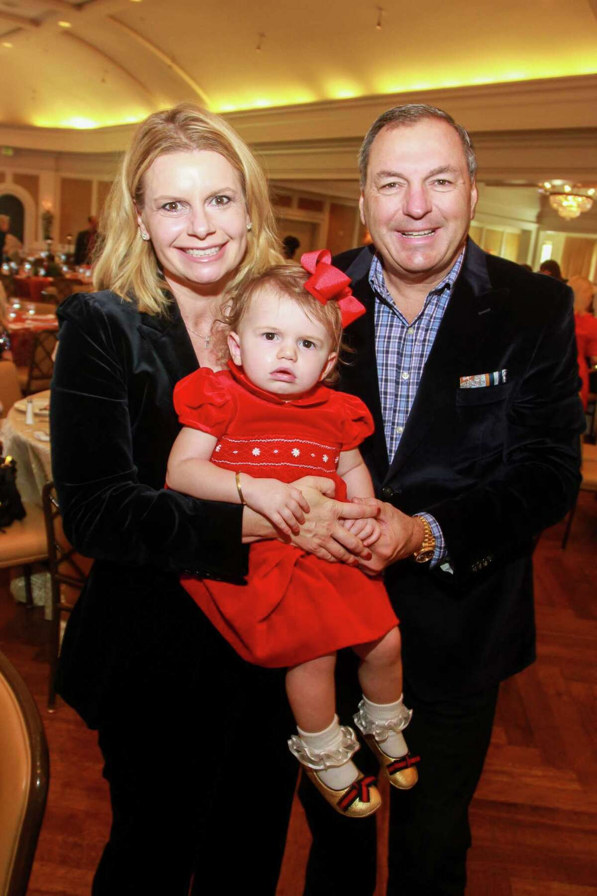 Valerie and Tracy Dieterich with their daughter, Madison, 16 months, at Houston Symphony's Magical Musical Morning.