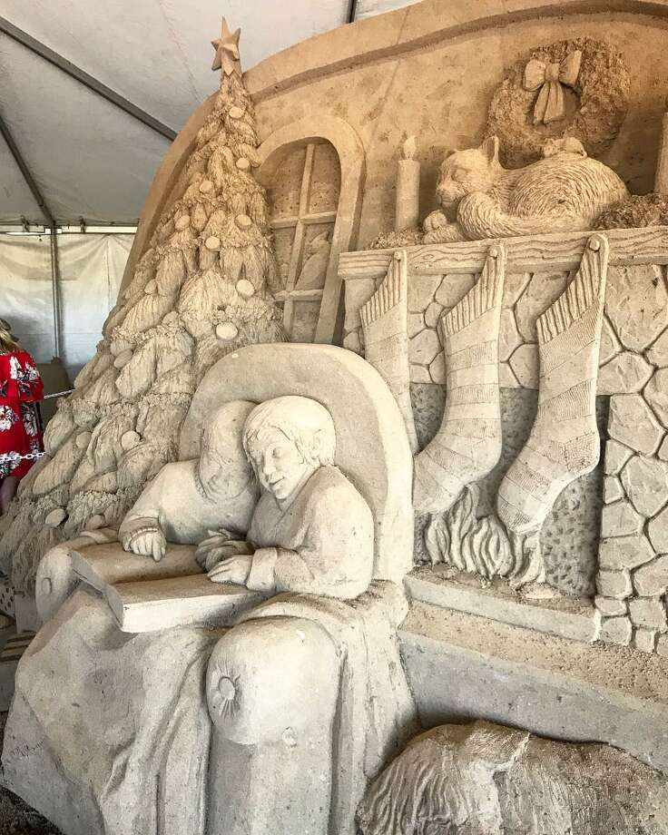 The Holiday Sandcastle Village, hosted at the South Padre Island Convention Centre, at 7355 Padre Blvd., is a collection of massive works of themed sand art. Guests can marvel at builds like a Sand Snowman and Sand-ta Friday through Sunday, until Dec. 16. Photo: Courtesy, @queenraylene14/South Padre Island Convention & Visitors Bureau