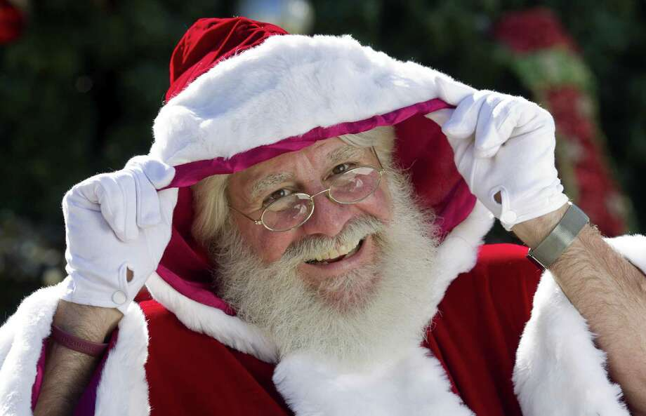 Nathan Arrazate, dressed as Santa, poses for a portrait at Heritage Place, Wednesday, Nov. 21, 2018, in Conroe. Photo: Jason Fochtman, Houston Chronicle / Staff Photographer / © 2018 Houston Chronicle