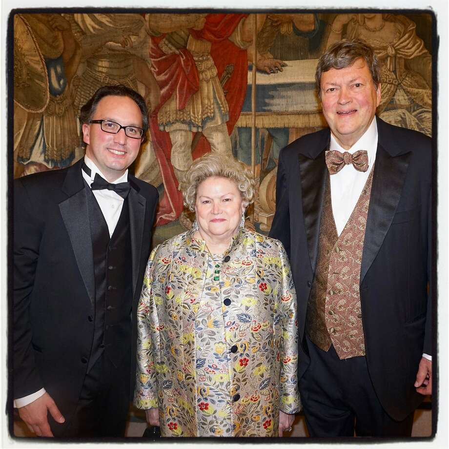 S.F. Opera General Director Matthew Shilvock (left) with honorees Cynthia Fry Gunn and her husband, Opera Board chairman John Gunn. Photo: Catherine Bigelow / Special To The Chronicle
