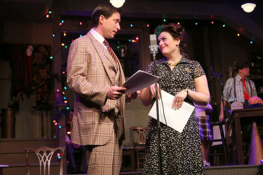 "Daniel Nischan and Moira O'Sullivan rehearse for ""Coney Island Christmas,"" onstage at the Ivoryton Playhouse, Dec. 13-23. Photo: Anne Hudson / Contributed Photo"