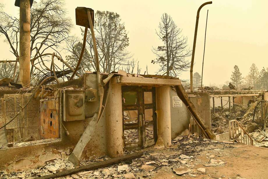 Paradise Elementary School is seen after burning down during the Camp fire in Paradise, Calif. on Nov. 12, 2018.Butte County classrooms welcomed back 28,000 students affected by the Camp Fire on Monday, more than three weeks after the deadliest inferno in California history ripped through the towns of Paradise and Magalia. Photo: JOSH EDELSON / AFP/Getty Images