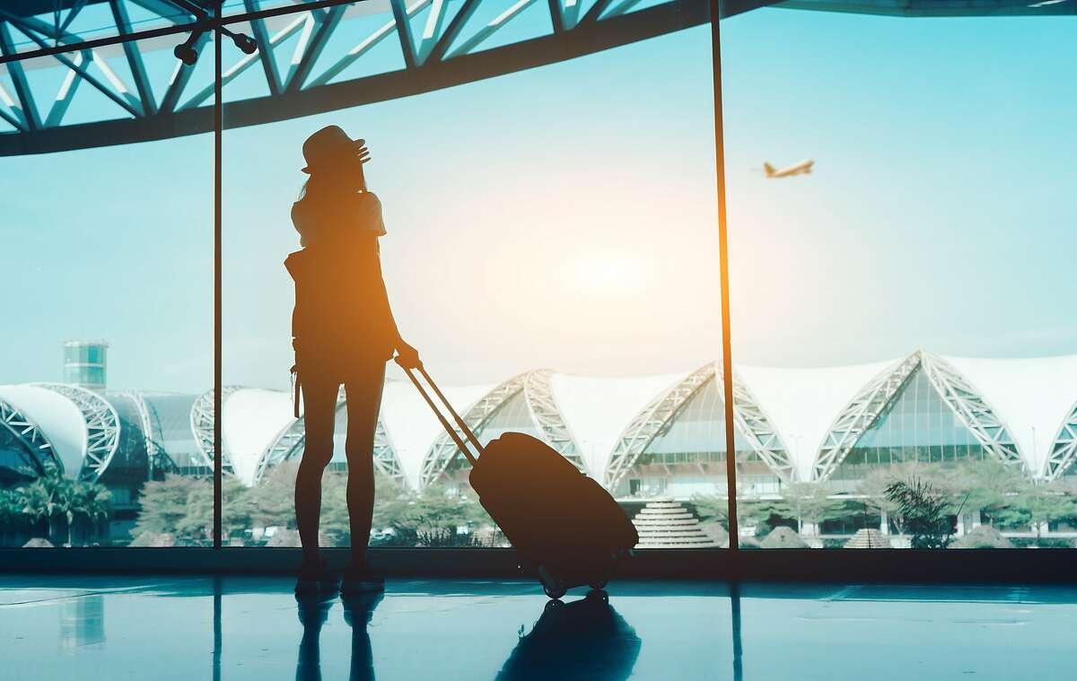 Stock image of air traveler