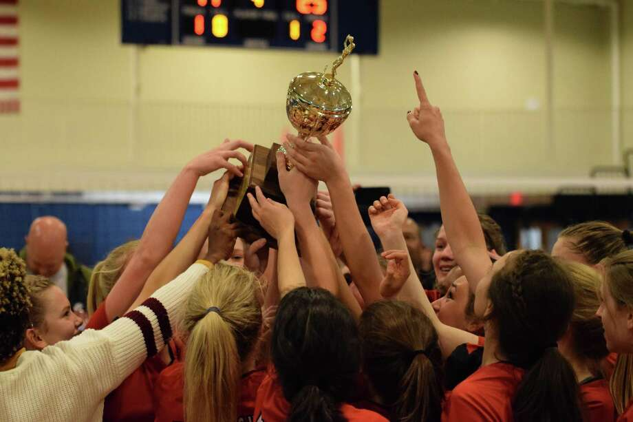 The St. John's volleyball team won its first Southwest Preparatory Conference championship since 2009, defeating Houston Christian, Episcopal School of Dallas and Episcopal in the SPC Tournament. Photo: St. John's School / St. John's School