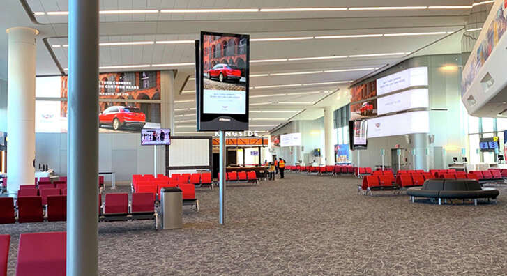 The new concourse at LaGuardia's Terminal B.