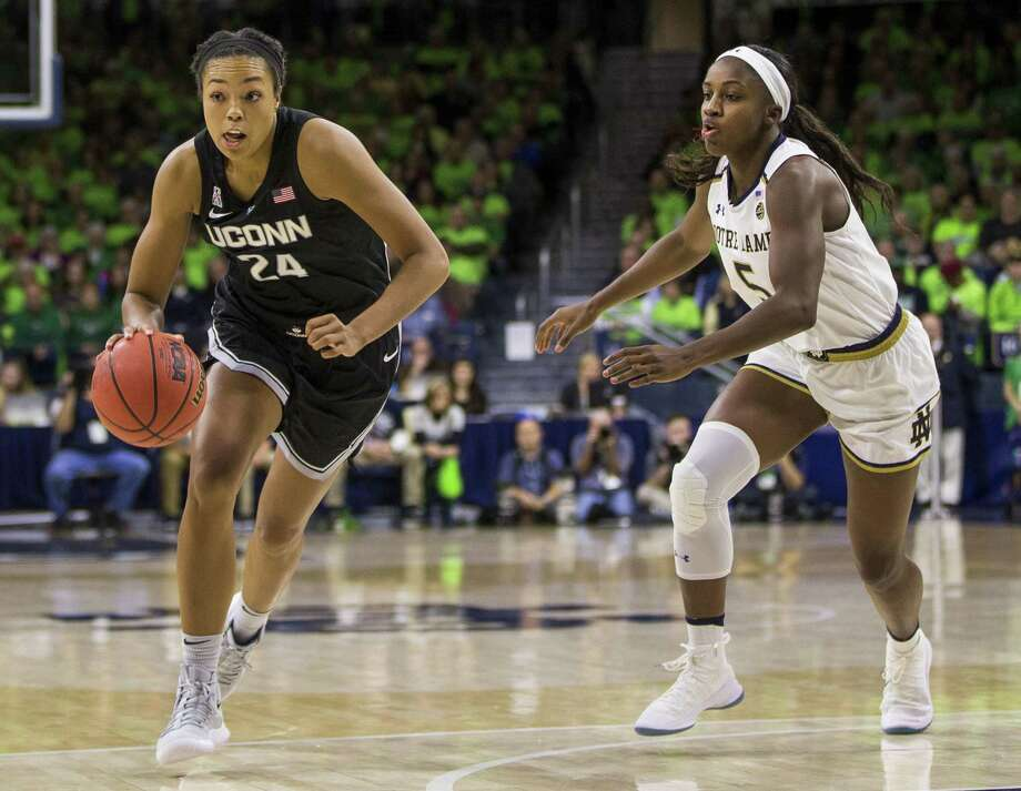 UConn senior Napheesa Collier will be playing her homecoming game Tuesday in St. Louis. (AP Photo/Robert Franklin) Photo: Robert Franklin / Associated Press / FR17139 AP