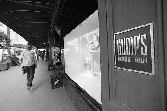 Exterior photos of Gump's on Post Street, October 22, 1983