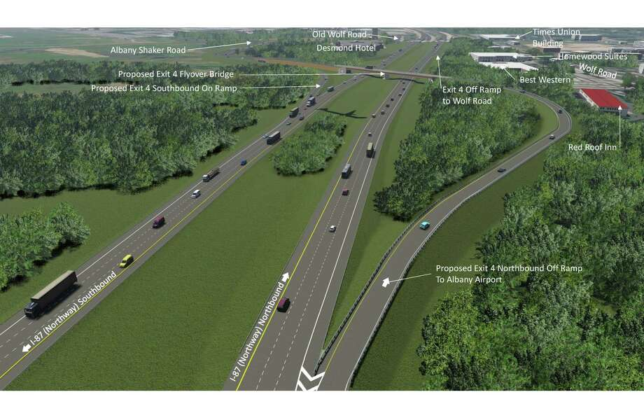 Rendering of new Albany International Airport and highway connector. Photo: State Department Of Transportation