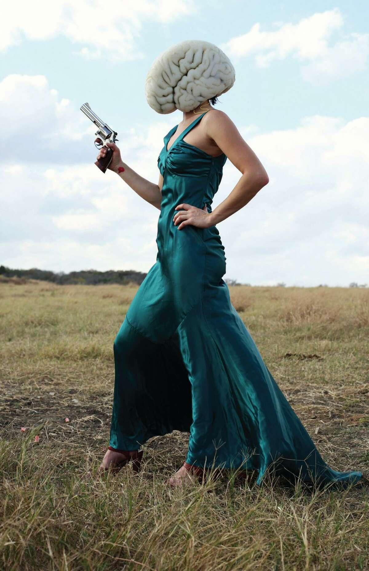 The Devil Girl, a member of the Estonian performance art group Non Grata.
