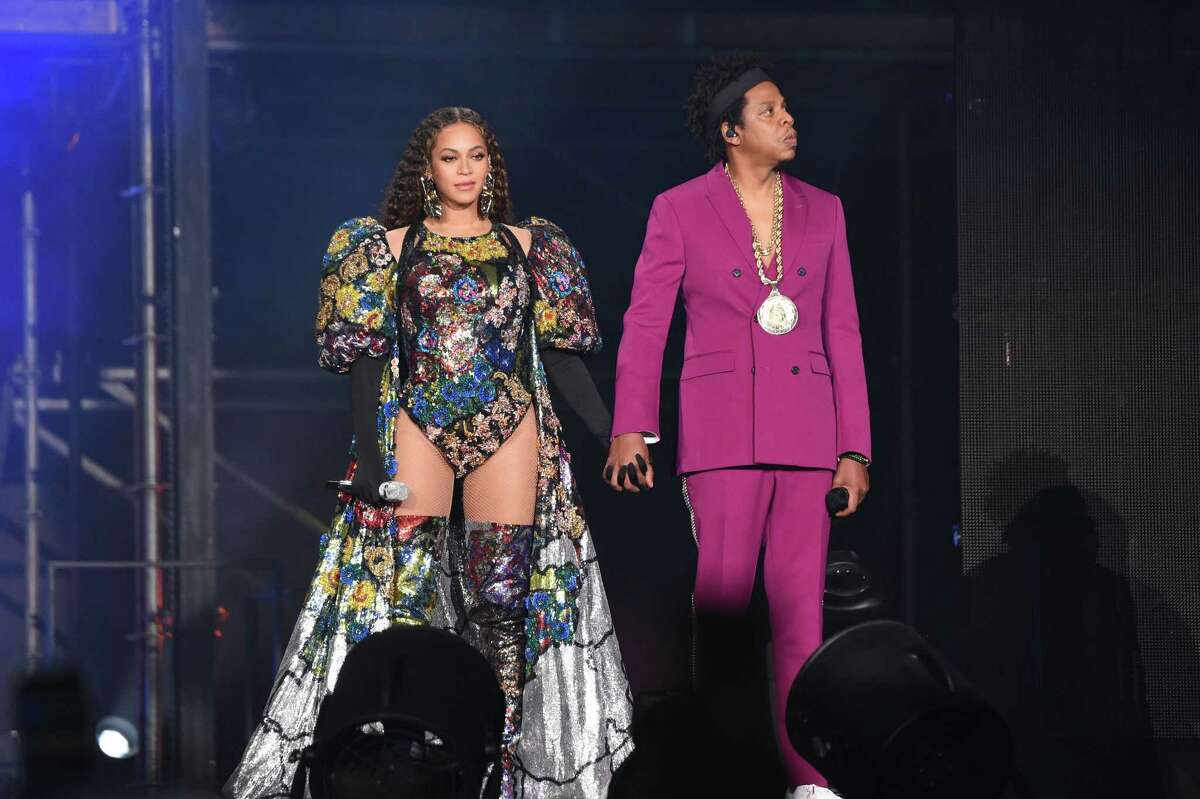 On Sunday, Beyoncé and Jay-Z appear onstage for the Global Citizen Festival: Mandela 100 in Johannesburg, South Africa.