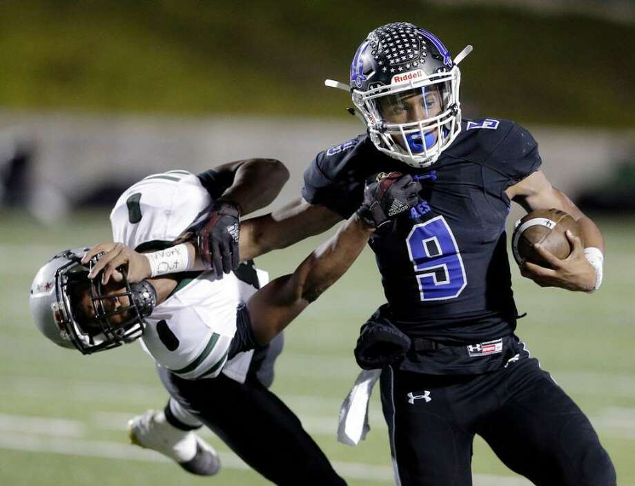 New Caney quarterback Zion Childress (9) was selected as the The Most Valuable Player as players were named to All-District 9-5A teams. Photo: Michael Wyke/Contributor / Michael Wyke/Contributor