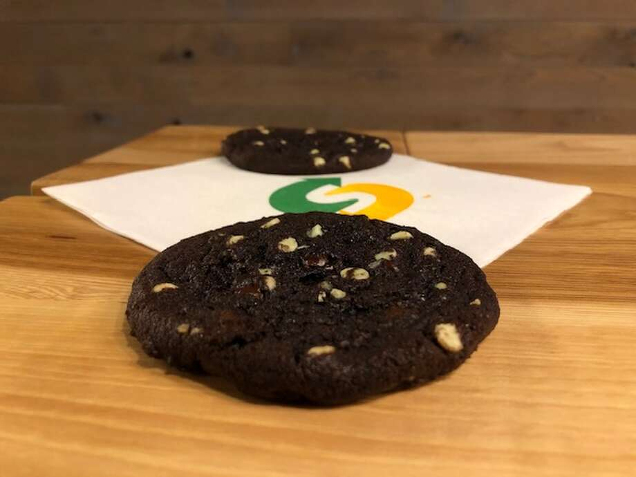 Subway unveiled their brand new Mint Chocolate chip cookie just in time for National Cookie Day on December 4, 2018. Photo: Andrew DaRosa | Hearst Connecticut Media