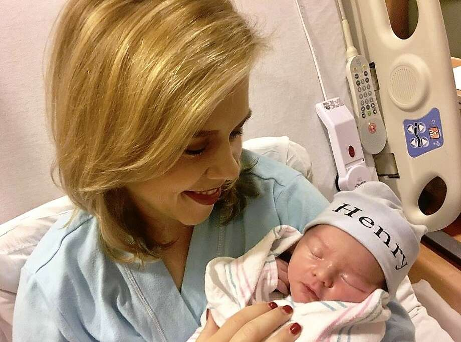 KHOU reporter Grace White gave birth to a baby boy on Sunday.