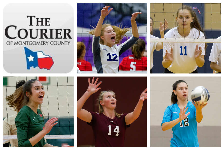 Taylor Thomas (Willis), Savanna Meyer (Oak Ridge), Natasha Zorbas (The Woodlands), Ellie Anderson (Magnolia) and Saege Anzueto (Conroe) are The Courier's nominees for Newcomer of the Year. Photo: Staff Photos
