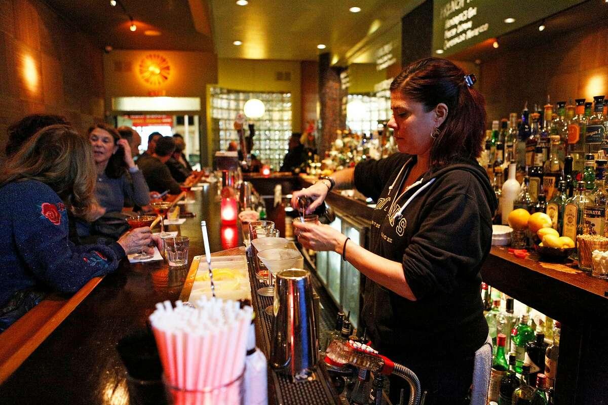 Bartender Devon Hersh at Tony Nik's bar and lounge on Wednesday, Nov. 28, 2018, in San Francisco, Calif. Tony Nik's is located at 1534 Stockton St.
