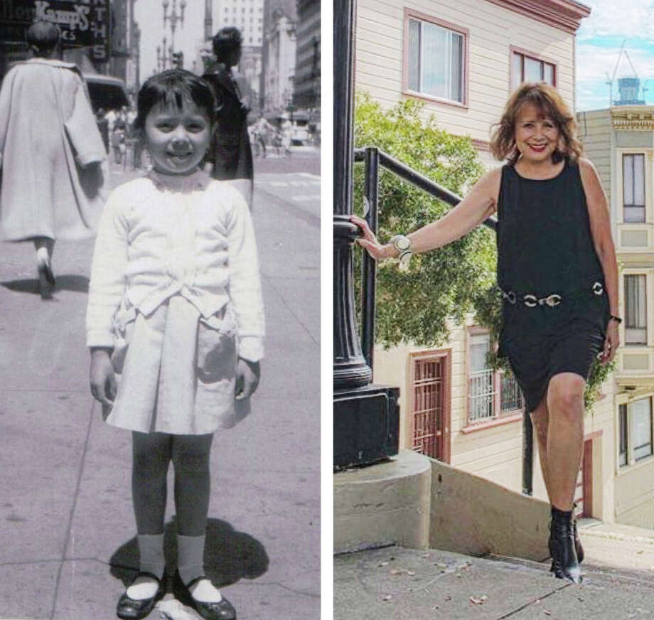 Denise Webster, as a child and an adult, in San Francisco. Photo: Courtesy: Denise Webster