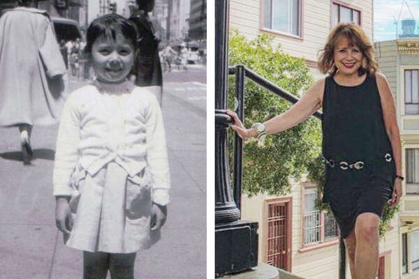 Denise Webster, as a child and an adult, in San Francisco.