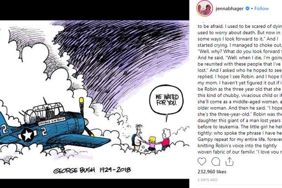 George H.W. Bush's granddaughter, Jenna Bush Hager, shared a heartfelt message via Instagram following her father's death Friday.