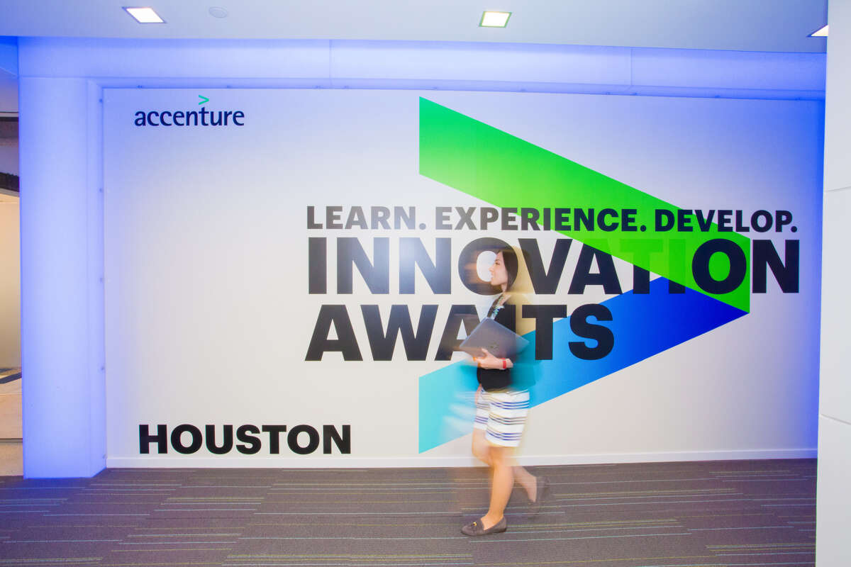 Accenture's Houston innovation hub is part of the global professional services firm's Houston office.