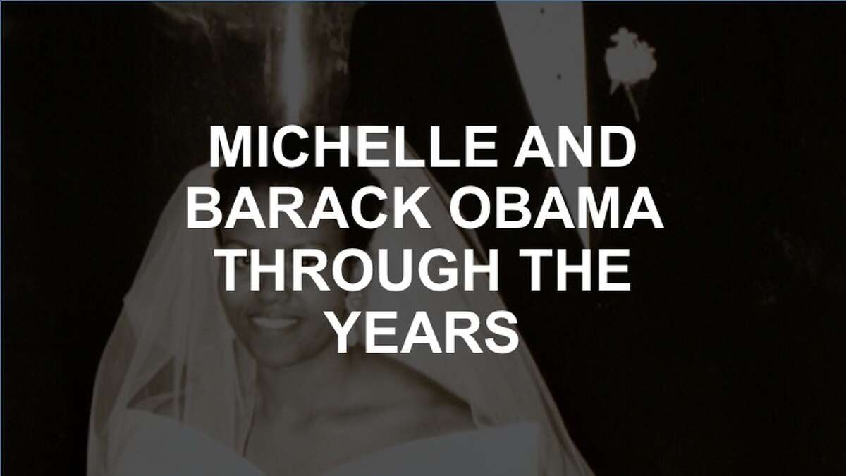 Click through the gallery to see Michelle and Barack Obama through the years.