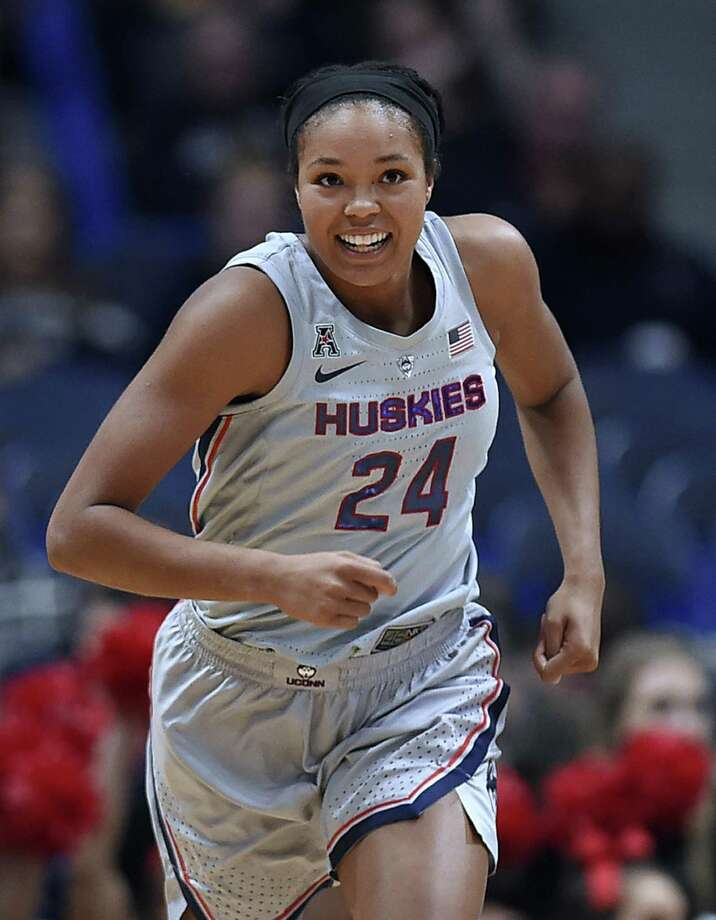 UConn's Napheesa Collier entered her senior season with 1,609 points and 808 rebounds. Photo: Jessica Hill / Associated Press / Copyright 2018 The Associated Press. All rights reserved